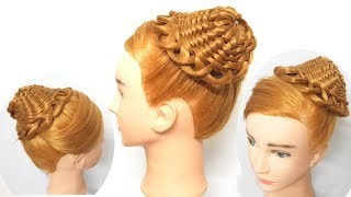 """Twist Waterfall into """"Hat"""" Basket Braid 🌹 Hairstyle for Party 👒 Hairstyles for girls"""