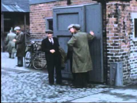 'Leaving Work' Belfast Harbour, 1954