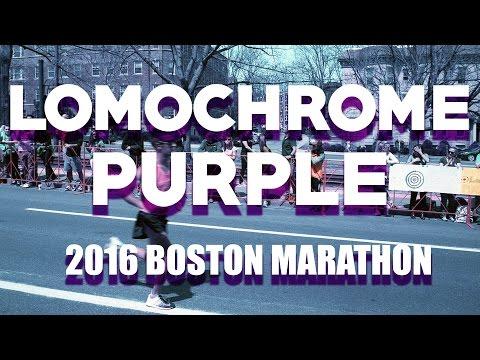 Shooting Lomochrome Purple Film at the Boston Marathon