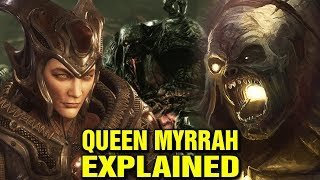 THE STORY OF QUEEN MYRRAH - SIRES AND LAMBENT EXPLAINED - GEARS OF WAR LORE EXPLORED
