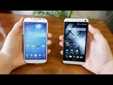 Samsung Galaxy S4 vs HTC ONE!