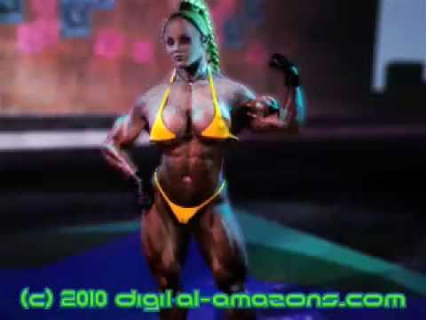 Daisy flexes biceps video preview digital-amazons.com