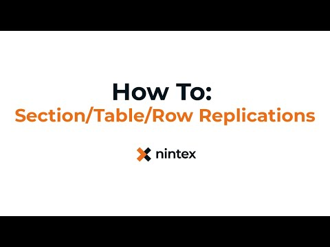 How To: Nintex Drawloop DocGen® for Salesforce - Section, Table, and Row Replication
