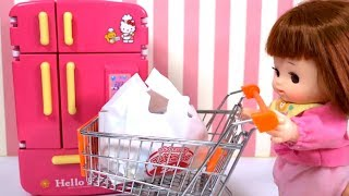 Baby Doll Refrigerator and food toys for kids