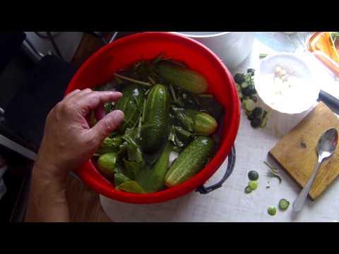 Как засолить капусту в ведре - видео
