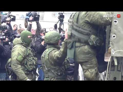 Симферополь Аэропорт Зеленые человечки 28.02.2014