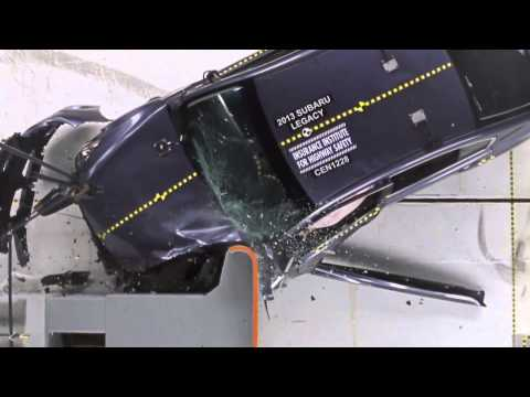 2013 Crash Test Subaru Legacy IIHS Small Overlap Test