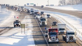 Massive YELLOW VEST Truck Convoy Crosses Canada To STAND Against Globalists!!!