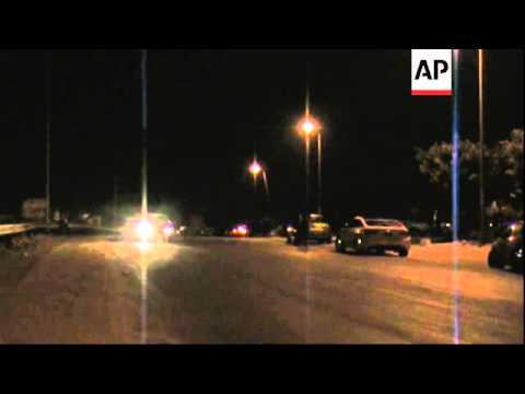 Scene at Egyptian border after Egypt's military fires missiles at Sinai militants