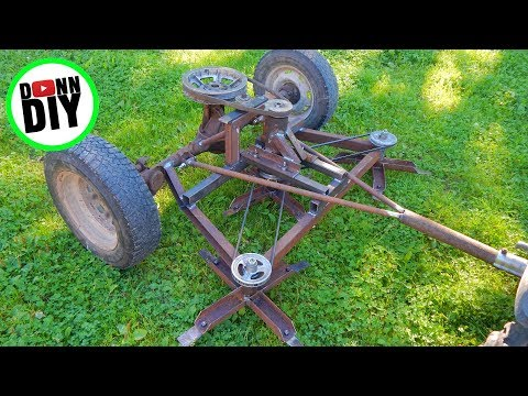 Mechanical Ground Driven Mower Made From JUNK!