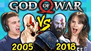 GOD OF WAR Old Vs. New (2005 Vs. 2018) (React: Gaming)