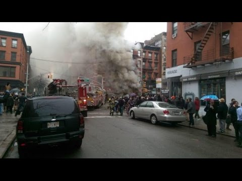 Building Explosion Sparks Fire, Collapse In East Village of NYC