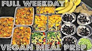 FULL WEEK VEGAN MEAL PREP (For Work or School) ♥ Cheap Lazy Vegan