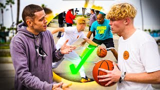 The Professor Coaches Me! 1v1 Basketball At Venice Beach!