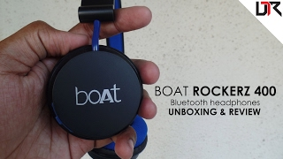 BOAT Rockerz 400 Wireless Headphones   Unboxing and Review - Cinematic