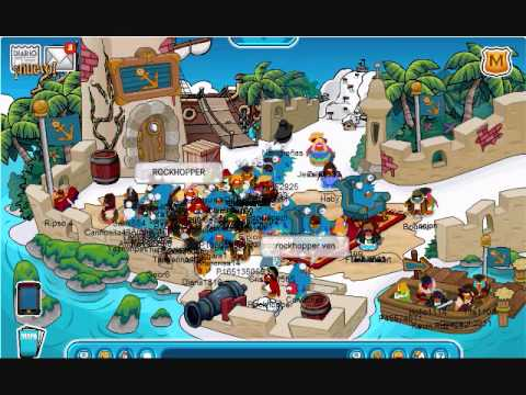 Meeting Rockhopper at the July 2011 Adventure Party