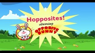 ♡ Between The Lions - Hopposites Starving Opposite Bunny - Educational Video Game For Kids English