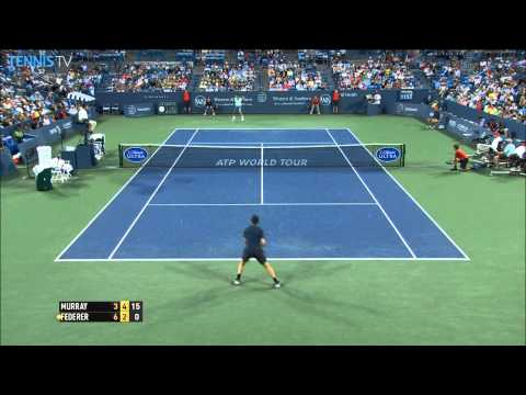 Roger Federer Blasts Forehand Hot Shot Cincinnati 2014