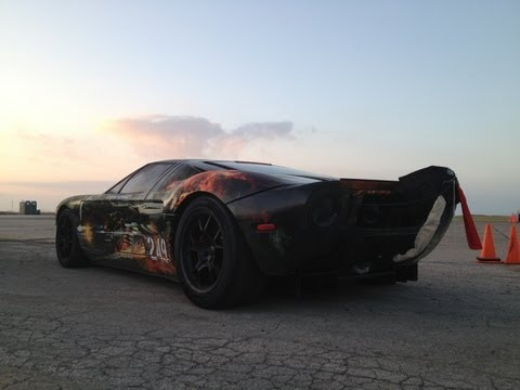 257.7 MPH Ford GT Standing Mile World Record - 2012 Texas Mile