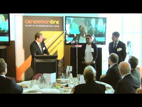 GenerationOne Third Anniversary Parliament House Canberra Interview with Maree Ansey and Brent Baron