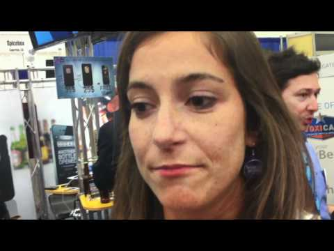 Samuel Adams Beer Girl at MacWorld Talks French Economy, Sarkozy, Politics