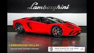 2019 Lamborghini Aventador S Roadster Rosso Mars 19L0124