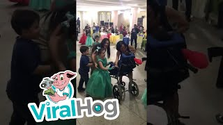 Sweet Sister Includes Little Brother in Graduation Ceremony || ViralHog