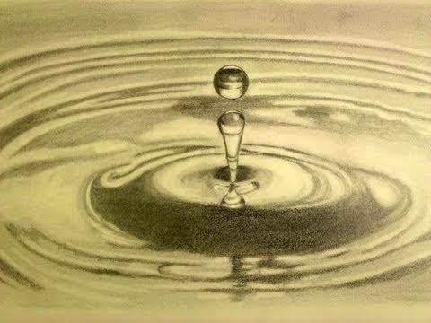 Cómo dibujar una gota de agua