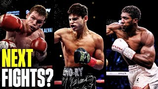 Canelo, Ryan Garcia, & Anthony Joshua: Who Will They Fight Next?