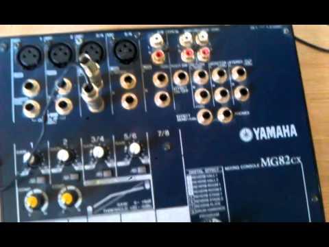 Как подключить микшер( на примере Yamaha Mg82cx