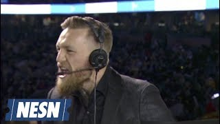 Conor McGregor Tells Story Of His Pump Up Speech To Boston Bruins