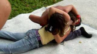 backyard mma jordan (girl) vs (rico)