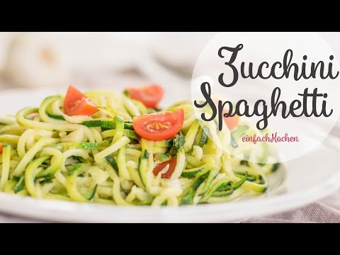 Zucchini-Spaghetti selber machen  - einfachKochen