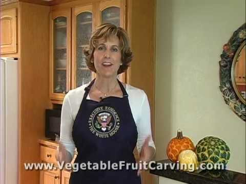 Nita Gill - Vegetable Carving at the White House