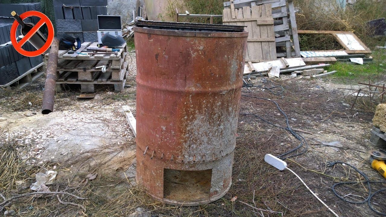 Печка из бочки для сжигания мусора своими руками для 27