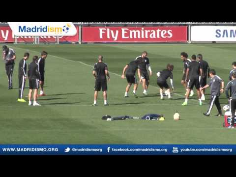 Real Madrid training ahead of Schalke, Champions League