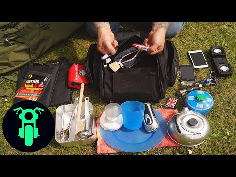 Motorcycle Camping Gear (Minimalist - Sports Bike)