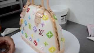 Louis Vuitton Purse Cake tutorial video