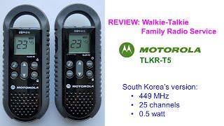Motorola TLKR-T5: FRS walkie-talkie - introduction & review