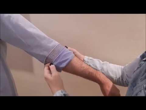 Três maneiras de dobrar mangas de camisas masculinas