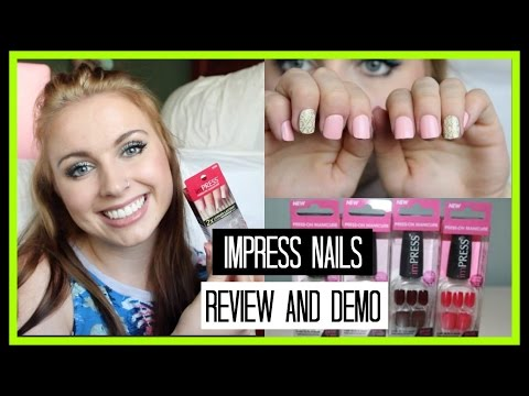 Fake Nails on a Budget   Impress Press On Nails   Review. Demo. + How to Make Them Last!