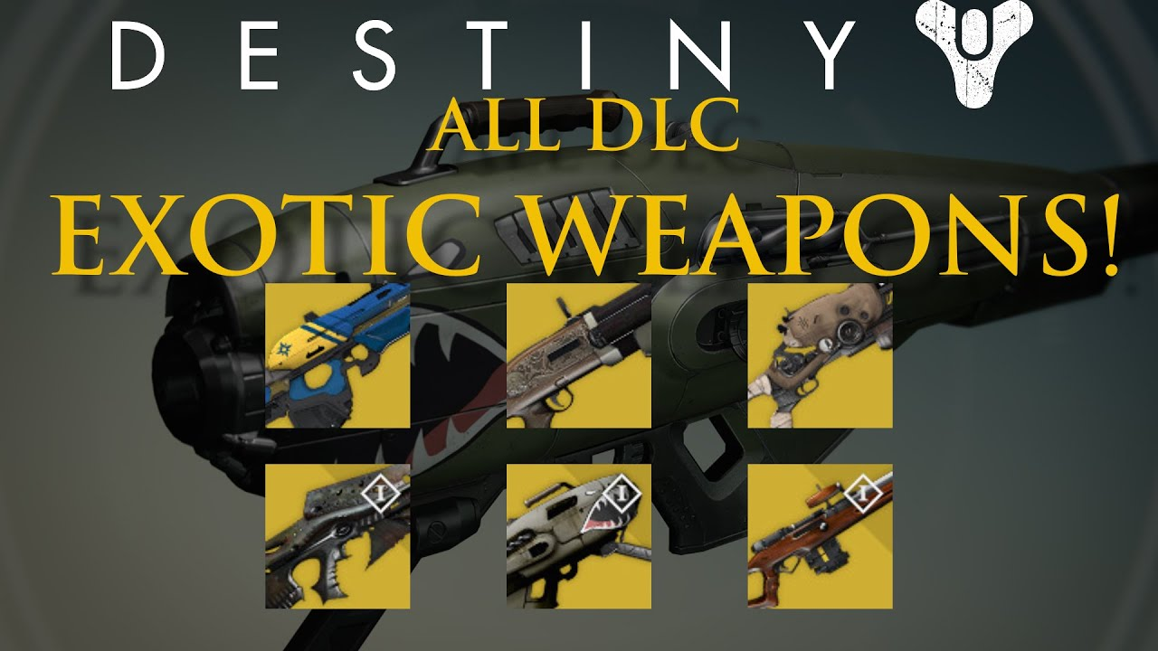 Destiny all new dlc exotic weapons dark below house of wolves
