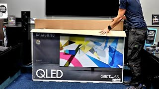 "04. Samsung 2020 Q80T 55"" 4K QLED Unboxing, Setup with 4K Demo Videos"