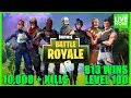 FORTNITE BATTLE ROYALE - LEVEL 100 - 10,000+Kills - 813 WINS - (PS4 PRO) Full HD