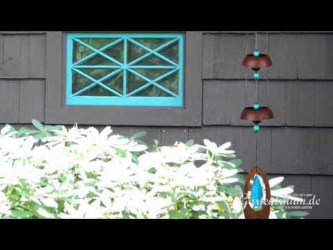 Wind Klangspiel Woodstock Temple Bells Türkis