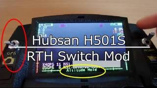 Hubsan H501s - H901A Controller - RTH Switch Mod