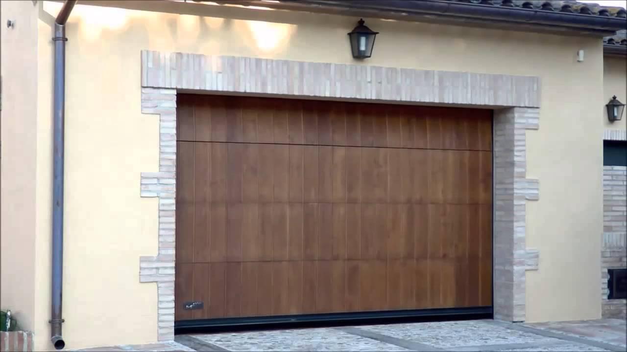 Puerta seccional madera de lamas sectional laminated - Puerta de lamas ...
