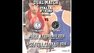 Dual Match Italy vs Estonia/Finland Assisi 4/02 PalaEventi 20.30