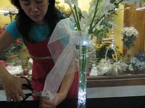 How to use LED waterproof garland light to make wedding centerpiece in 3 mins.wmv
