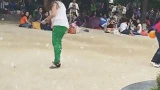 Most funny video. .girls trying to learn some new steps of fun. .
